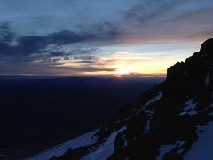 Rock Climbing Photo: Mt Shasta sunrise