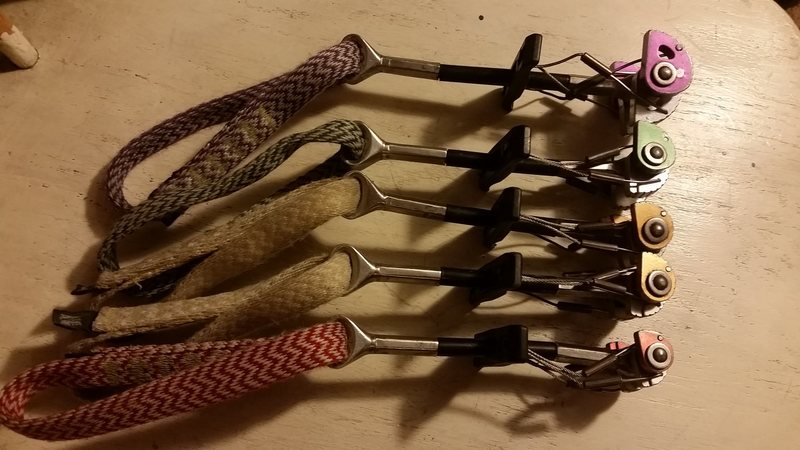 Set of 5 Lowe Alpine cams. Used but still have smooth action. $80 for all 5