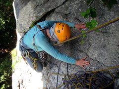 Rock Climbing Photo: Coming into the second pitch belay on Tunnel Diago...