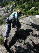 Rock Climbing Photo: Carolina bringin' us home on the last pitch of Tun...