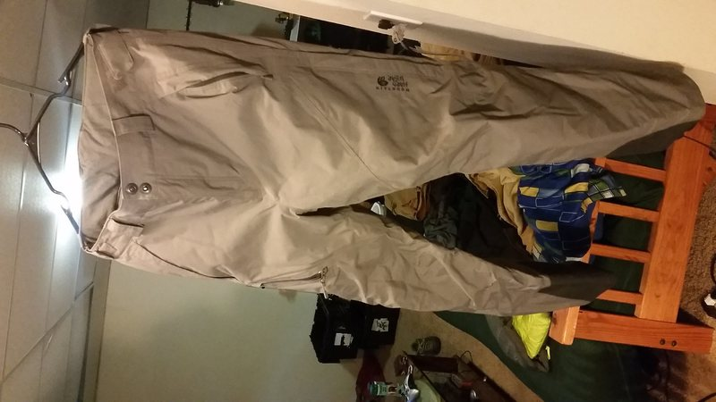 Mens mountain hardware DryQ insulated ski pants with the recco chip. In great shape minus 2 small crampon holes. Mens Large<br> $75