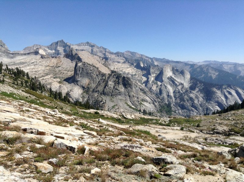 Rock Climbing Photo: Southern Great Western Divide with Eagle Scout Pk ...