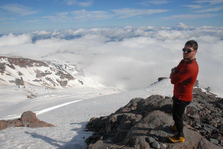 Rock Climbing Photo: At our advance camp on Kautz Ice Chute.