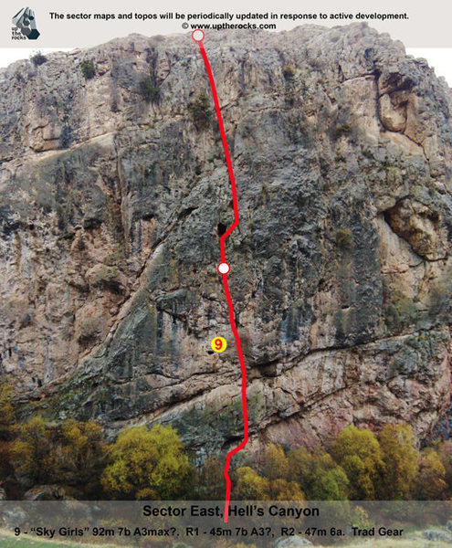 Rock Climbing Photo: Hell's Canyon, Sector West.  For complete informat...