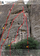 Noravank Canyon, Sector C.  <br />For complete information visit our website:  <br /><a href='http://uptherocks.com/index.php/rock-climbing-topo-armenia/233-topo-noravank-canyon' target='_blank' rel='nofollow' >uptherocks.com/index.php/rock-...</a>
