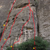 Noravank Canyon, Sector C. <br> For complete information visit our website: <br> http://uptherocks.com/index.php/rock-climbing-topo-armenia/233-topo-noravank-canyon