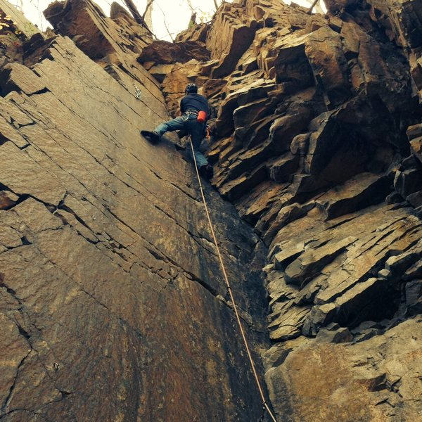 Rock Climbing Photo: Me leading it a few years back. I remember it bein...