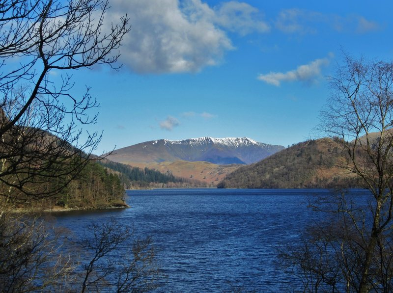 Blencathra Mountain from Thirlmere Lake ... Lake District