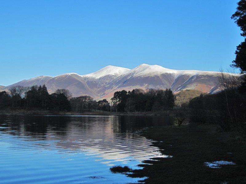 Skiddaw Mt from lake Derwentwater .. Lake District