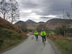 Rock Climbing Photo: Biking out of the Newlands Valley with Causey Pike...