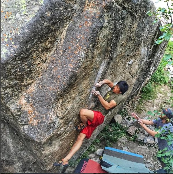 Rock Climbing Photo: Crocodile Left.