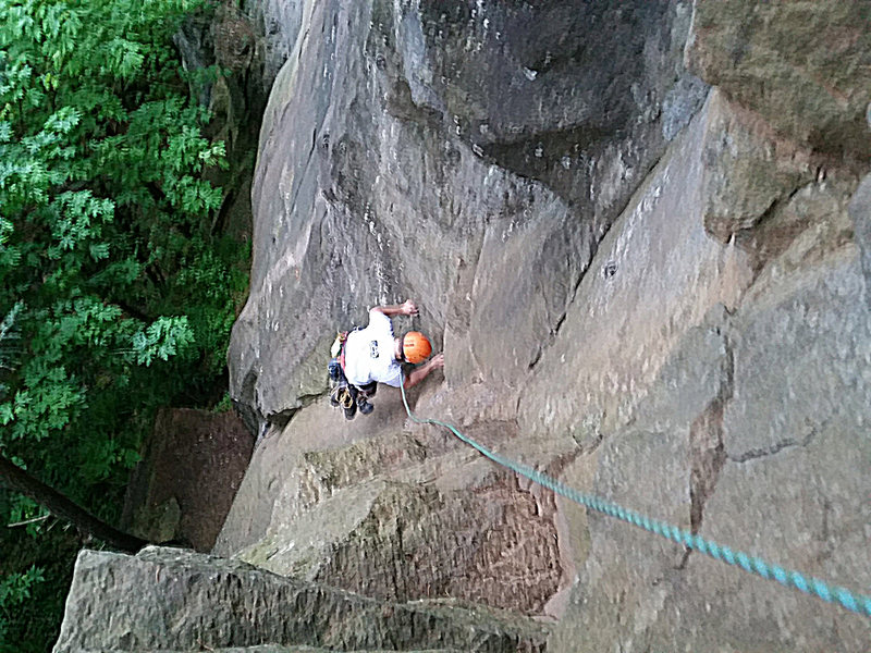Rock Climbing Photo: View from top of Orient Express