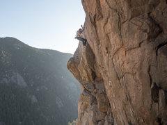 Rock Climbing Photo: Slim taking the whip.