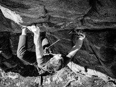 Rock Climbing Photo: Slottin' that 0.75.