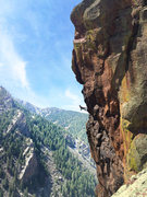 Rock Climbing Photo: After my fat whipper into space towards the top of...