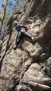 "Rock Climbing Photo: Zach B. on ""Bills in my Pockets."""