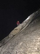 Rock Climbing Photo: Leading on Hot Flash in the dark