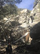 Rock Climbing Photo: The main wall. Blade runner can be seen going up t...