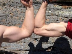 Rock Climbing Photo: Welcome to Muscle Beach!