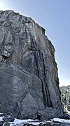 Rock Climbing Photo: A photo stitch of the entire route. The line follo...