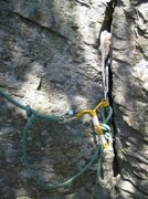 Rock Climbing Photo: Old 'Air Voyager' screamer in rope solo anchor