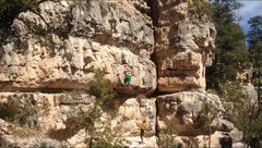 Rock Climbing Photo: Lapping in up.