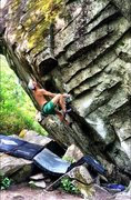 Rock Climbing Photo: Setting up for the exciting and challenging lip en...