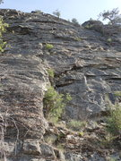 Rock Climbing Photo: Base of the upper wall from the top of Middle Eart...