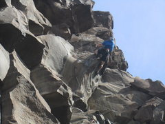 Rock Climbing Photo: The forearm Berning crux