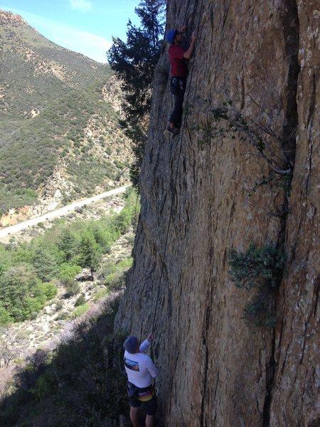 Rock Climbing Photo: Alex on Consumption Dysfuction with Richard Duncan...