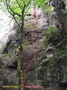 Rock Climbing Photo: Vertical Therapy @ crux
