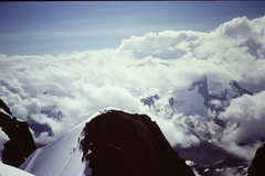 Rock Climbing Photo: [Photo 4] The four of us on the snow arete, lead c...