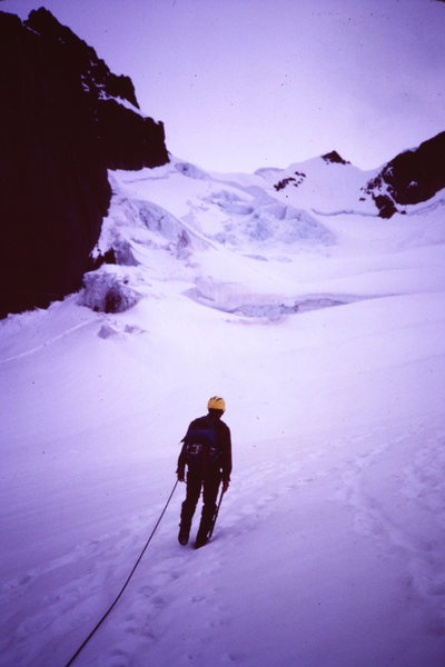 Rock Climbing Photo: [Photo 1 ] On the Turret Glacier, Turret just left...