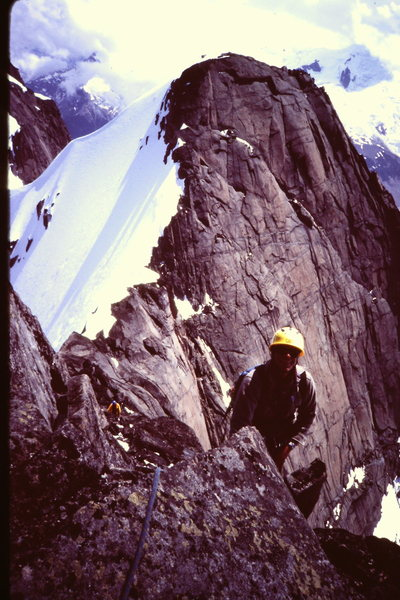 Rock Climbing Photo: [Photo 7] - Ron Factor on the E. Ridge of Austerit...