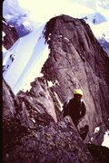 Rock Climbing Photo: [Photo 7] - Ron Factor on the E. Ridge of Austerit...