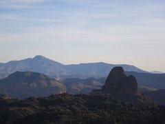 Rock Climbing Photo: Four Peaks, Malapais Mountain and Weavers Needle.
