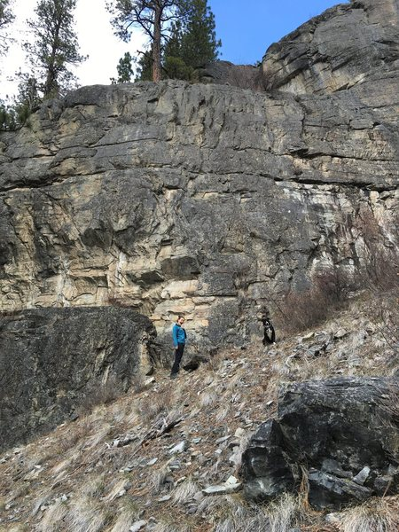 Rock Climbing Photo: My crag pup and I at sloggers wall, koocanusa