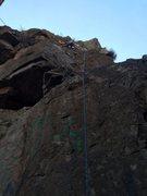Rock Climbing Photo: Danny nearing the top