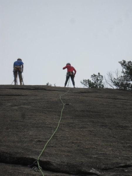 Rock Climbing Photo: A bit run-out on No Alternatives