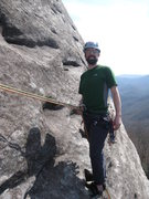 Rock Climbing Photo: P2. belay on Looking Glass  (linked p1-2)