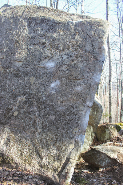 Rock Climbing Photo: Chalk outlining the holds.
