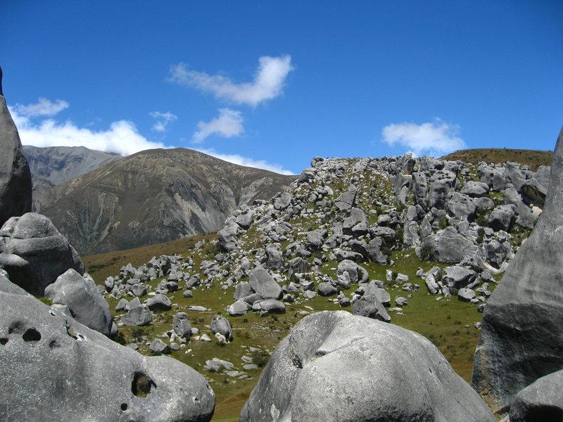 Plenty of boulders on Castle Hill, January 2011