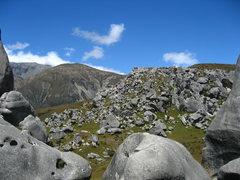 Rock Climbing Photo: Plenty of boulders on Castle Hill, January 2011