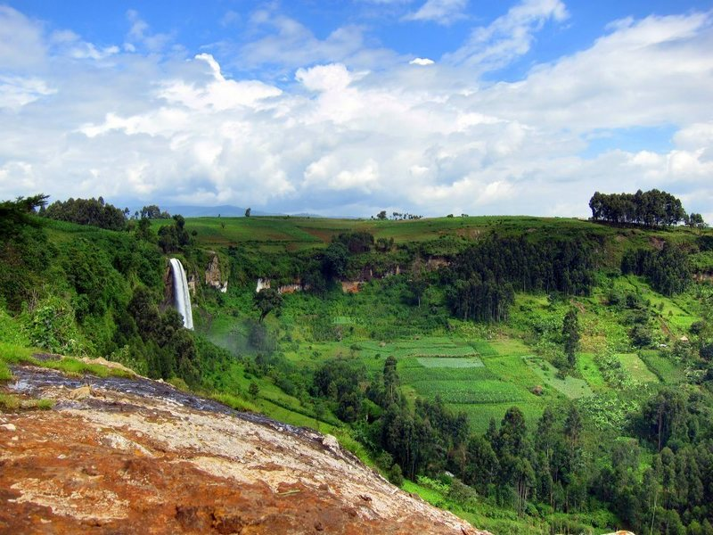 The first Sipi Falls, August 2011