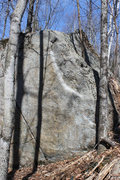 Rock Climbing Photo: Sit start at the low corner on the right, then up ...