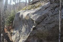 Rock Climbing Photo: The bulge leading to the finish sidepulls.