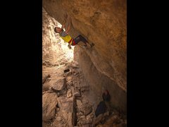 Rock Climbing Photo: Setting up for the crux dead point.  Photo by Kyle...
