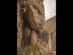 Rock Climbing Photo: The wide stemming section.  Photo by Kyle Duba. Th...