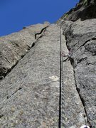 Rock Climbing Photo: Sustained 5.10a finger-to-hand crack climbing on M...