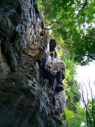 Rock Climbing Photo: Marcus Bingham following a pre-comfort bolt lead o...